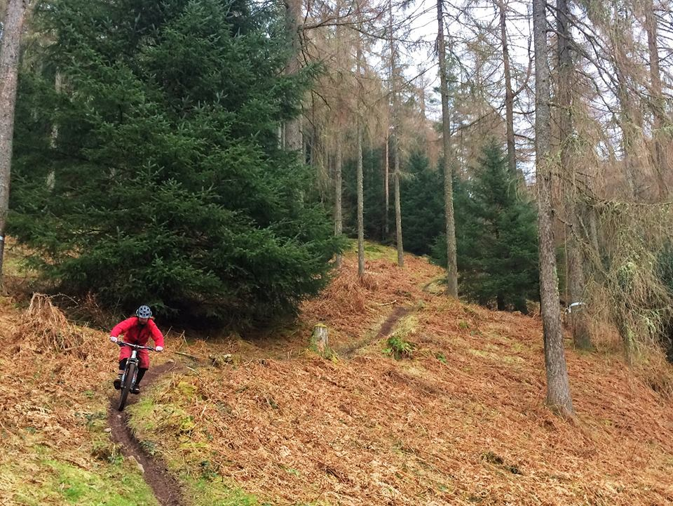 Pete out testing the HT's up at Aberfoyle this morning   photo by Stu Thompson.