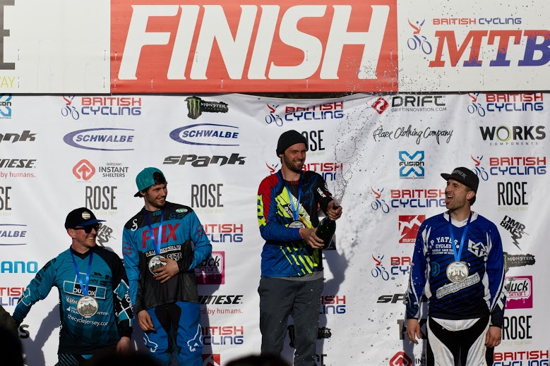 He got it! Team Wideopenmag's Kye Forte has been working hard for a British Downhill National ... and it finally came together for him. Amazing work sir!
